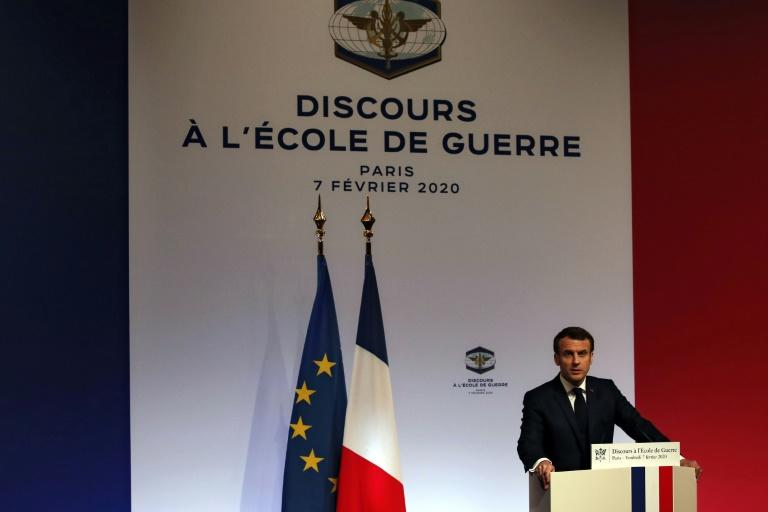 French President Emmanuel Macron says European nations must face up to the possibility of a fresh nuclear arms race