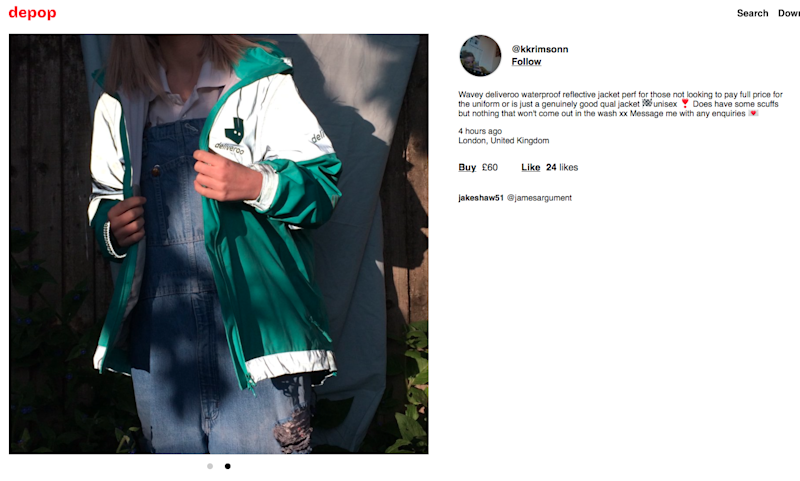 f8d0ba14c7 People are buying Deliveroo couriers' jackets for fashion because ...