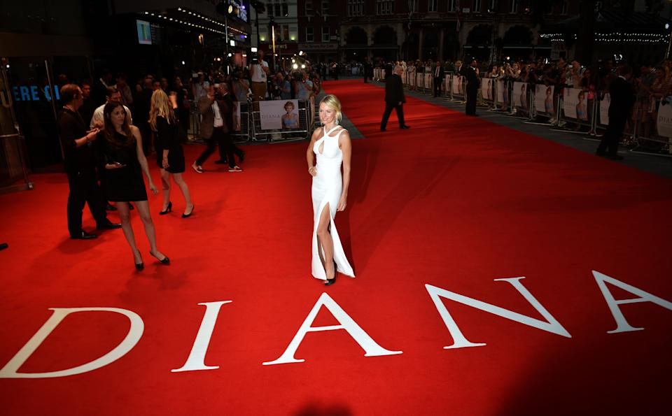 Naomi Watts arriving for the Diana premiere at the Odeon Leicester Square, London.