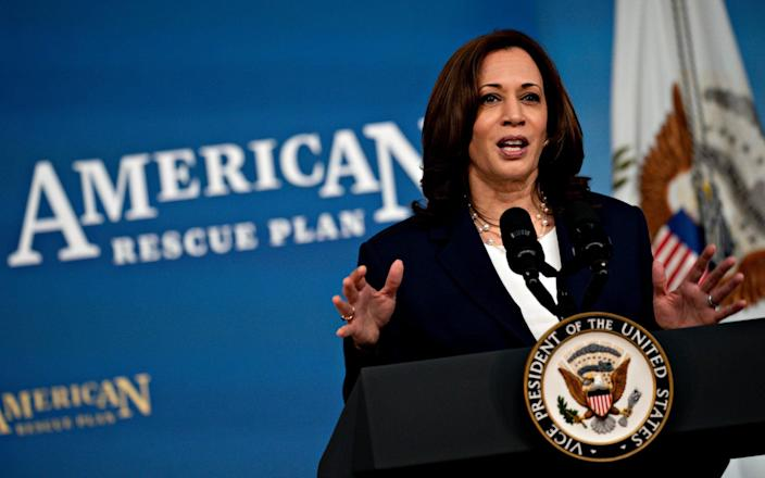 Vice President Kamala Harris has been put in charge of tackling the White House approach to the migrant crisis at the southern border - Shutterstock