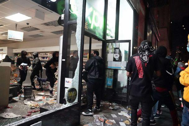 PHOTO: People loot a store during demonstrations over the death of George Floyd by a Minneapolis police officer on June 1, 2020, in New York City. (Bryan R. Smith/AFP via Getty Images)