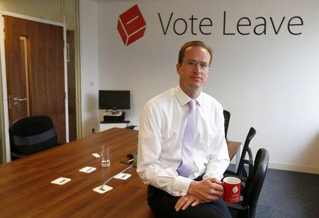 FILE PHOTO: Head of Vote Leave, Matthew Elliott, poses for a photograph at the Vote Leave campaign headquarters in London, Britain May 19, 2016. REUTERS/Peter Nicholls/File Photo