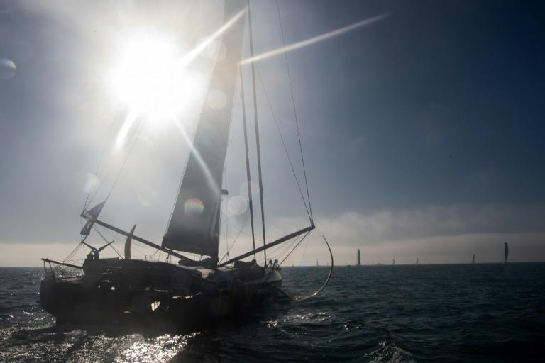 Life on the high seas: French skipper Armel Tripon sails his Imoca 60 Occitane after the start of the Vendee Globe off Les Sables-d'Olonne