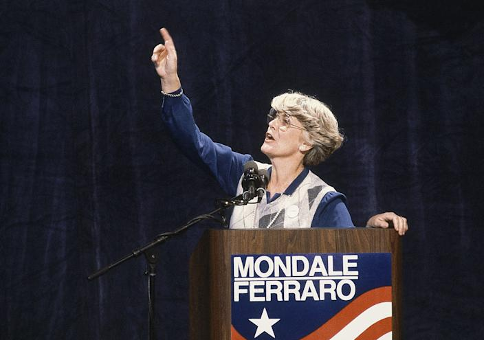 Geraldine Ferraro was the first woman to run for U.S. vice president on a major party ticket in 1984.