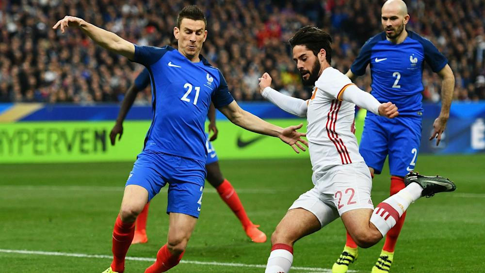 Laurent Koscielny Isco France Spain Friendly 28032017