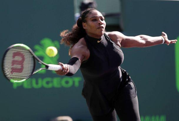 PHOTO: Serena Williams at the Miami Open tennis tournament, in Key Biscayne, Fla., March 21, 2018. (Lynne Sladky/AP, FILE)
