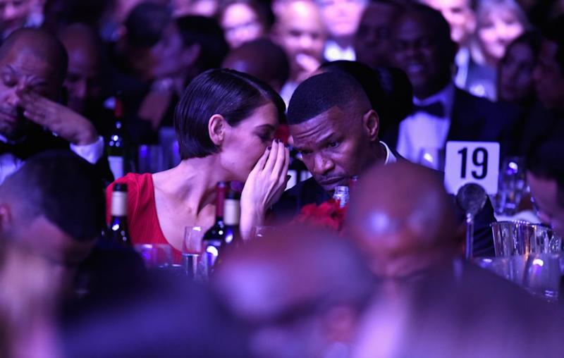 The pair, here cosying up at the pre-Grammys gala, have rumoured to have been together since 2013 but only went public with their romance last year. Source: Getty