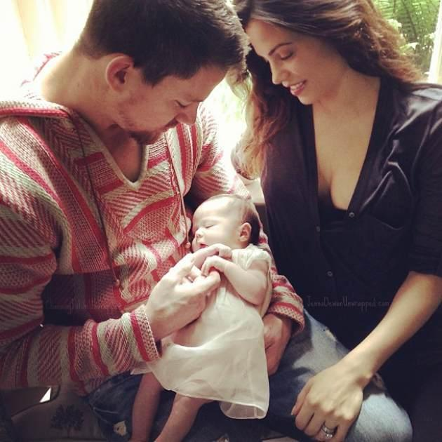 Channing and Jenna Dewan-Tatum seen with daughter Everly on June 16, 2013 -- Facebook