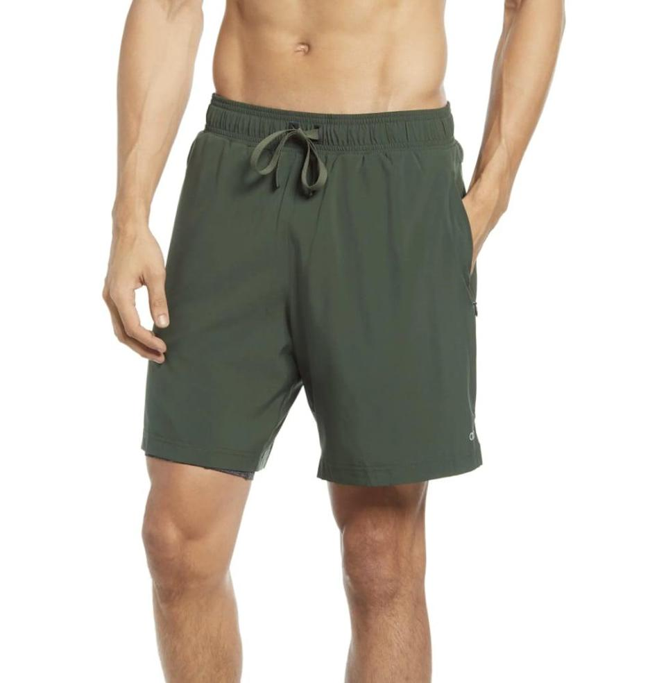 <p>If they love to be comfortable, they'll want to wear these <span>Alo Unity 2-in-1 Shorts</span> ($98) all the time.</p>