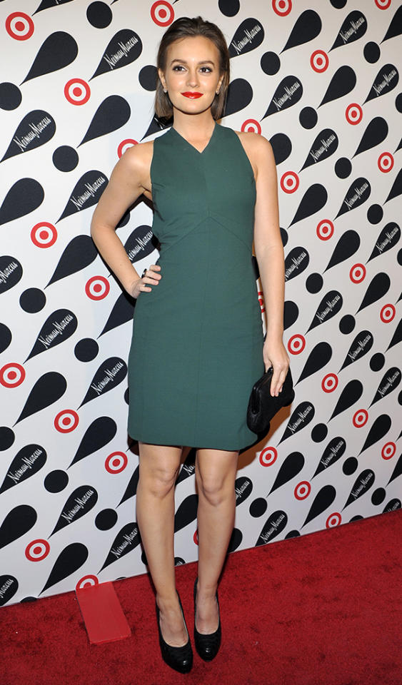 NEW YORK, NY - NOVEMBER 28: Leighton Meester attends the Target   Neiman Marcus Holiday Collection launch on November 28, 2012 in New York City. (Photo by Michael N. Todaro/FilmMagic)