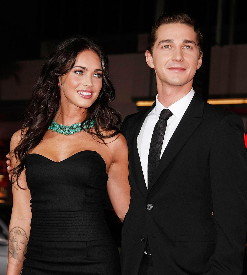 """<a href=""""http://movies.yahoo.com/movie/contributor/1808488000"""">Megan Fox</a> and <a href=""""http://movies.yahoo.com/movie/contributor/1804503925"""">Shia LaBeouf</a> at the Los Angeles premiere of <a href=""""http://movies.yahoo.com/movie/1809955918/info"""">Eagle Eye</a> - 09/16/2008"""