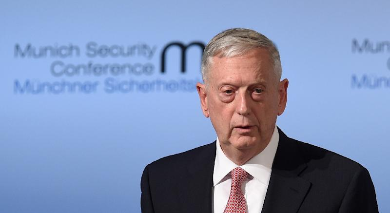 "US Secretary of Defence James Mattis told officials in Brussels that the NATO alliance was a ""fundamental bedrock"" for the United States (AFP Photo/Christof STACHE)"