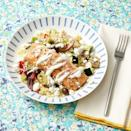 "<p>A fancy-shmancy dinner for your mom...in under an hour? Yup, that's what you'll get if you opt for these Greek-inspired bowls, topped with feta, olives, and a drizzle of tzatziki.</p><p><strong><a href=""https://www.thepioneerwoman.com/food-cooking/recipes/a35938406/greek-salmon-couscous-bowls-recipe/"" rel=""nofollow noopener"" target=""_blank"" data-ylk=""slk:Get the recipe"" class=""link rapid-noclick-resp"">Get the recipe</a>.</strong></p><p><a class=""link rapid-noclick-resp"" href=""https://go.redirectingat.com?id=74968X1596630&url=https%3A%2F%2Fwww.walmart.com%2Fbrowse%2Fhome%2Fserveware%2Fthe-pioneer-woman%2F4044_623679_639999_2347672&sref=https%3A%2F%2Fwww.thepioneerwoman.com%2Ffood-cooking%2Fmeals-menus%2Fg35589850%2Fmothers-day-dinner-ideas%2F"" rel=""nofollow noopener"" target=""_blank"" data-ylk=""slk:SHOP SERVEWARE"">SHOP SERVEWARE</a></p>"
