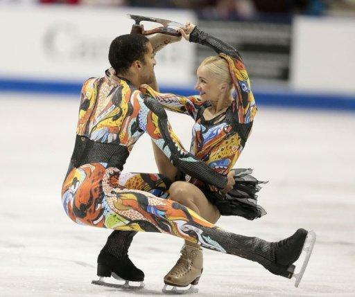 Aliona Savchenko and Robin Szolkowy of Germany skate their free program at the 2012 Skate Canada International ISU Grand Prix event in Windsor. Savchenko and Szolkowy won the pairs title with a total of 201.36 points