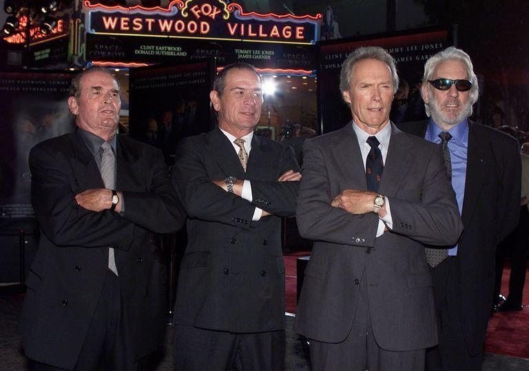 <p>Eastwood gathered up some of Hollywood's heaviest hitters—such as James Garner, Tommy Lee Jones, and Donald Sutherland—to star in his next directorial project, <em>Space Cowboys</em>.</p>
