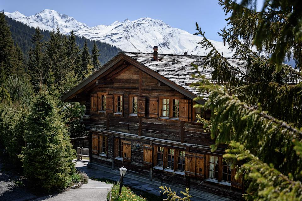 A photo taken on May 7, 2020 shows the wooden chalet Helora, owned since 2014 by Britain's Prince Andrew, Duke of York and his ex-wife Sarah Ferguson in the Alpine resort of Verbier, western Switzerland. - Legal proceedings have been launched in Switzerland against Britain's beleaguered Prince Andrew and his ex-wife Sarah, Le Temps Swiss newspaper reported on May 7, 2020, over money they still owe on a luxury chalet. (Photo by Fabrice COFFRINI / AFP) (Photo by FABRICE COFFRINI/AFP via Getty Images)