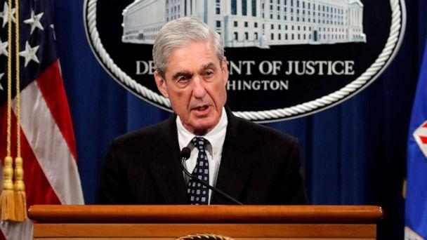 PHOTO: This May 29, 2019 file photo shows special counsel Robert Mueller speaking about the Russia investigation at the Department of Justice in Washington. (Carolyn Kaster/AP Photo)
