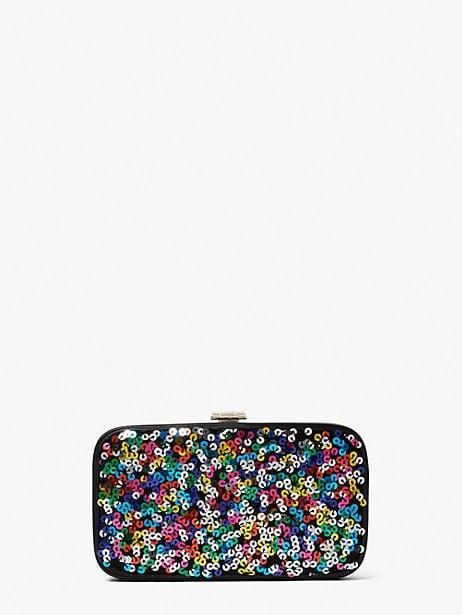 <p><span>Tonight Sequins Clutch</span> ($228)</p>