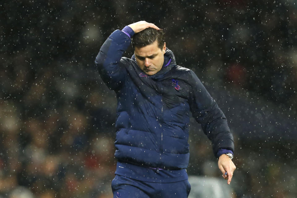 Mauricio Pochettino has been sacked as manager of Tottenham Hotspur. (Photo by IAN KINGTON/AFP via Getty Images)