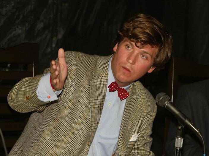 Tucker Carlson at The Creative Coalitions' panel discussion at Chadwick Restaurant in Beverly Hills, California, on June 20, 2002.