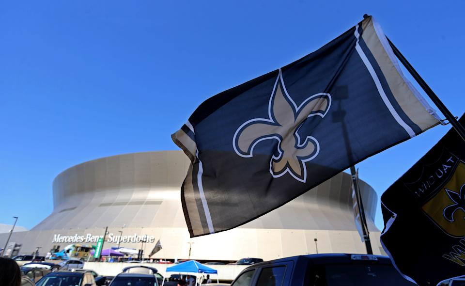 General view of the Mercedes-Benz Superdome before the game between the New Orleans Saints and the Cleveland Browns in 2018.