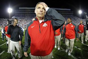 Urban Meyer's Buckeyes have been on the outside of the CFP conversation after their loss to Virginia Tech. (AP)