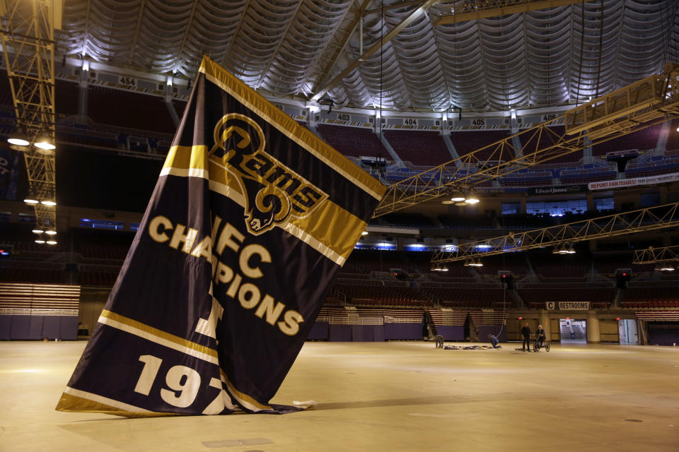 The Rams cleared out of the Edward Jones Dome in January of 2016 and out of Missouri altogether, heading west toward Southern California. (AP)
