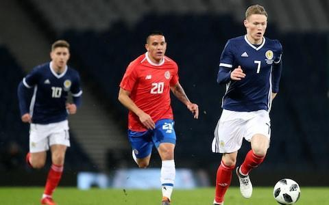 """The dawn of Alex McLeish's second spell in charge of Scotland was a grey affair as Costa Rica reprised the scoreline that shocked the Tartan Army at the World Cup finals in Italy in 1990. This time the blow was struck by Marcos Urena when the Los Angeles striker was allowed a free chance early in the match and, despite some encouraging football by the Scots, there was no joy for the home fans in a crowd of 20,488. McLeish signalled a changing of the guard with his squad selection and confirmed his desire to assess new recruits with the opening line-up of his second spell in charge. Scott McTominay was an expected starter, having turned declined an invitation from Gareth Southgate to sign up for England and, apart from the Manchester United midfielder, debuts were afforded to Aberdeen's Scott McKenna, Fulham's Kevin McDonald and Oliver McBurnie of Barnsley. McLeish had indicated beforehand that he favoured a back three and would have played Kieran Tierney on the left. The Celtic's player's withdrawal through injury create the opportunity for McKenna, with Liverpool's Andrew Robertson in the left wing-back position and Callum Paterson of Cardiff City on the other flank. Allan McGregor was powerless to keep out Urena's strike Credit: getty images McLeish and his Costa Rican counterpart, Oscar Ramirez, played against each other in the only other meeting of these sides and Ramirez emphasised the significance of that occasion when he said, in the build-up to this encounter, that """"winning that game was a surprise and an important kick-off point for our nation."""" Such has been the teams' comparative fortunes since then that it was McLeish who hoped that this fixture would kick off a resurgence in Scotland's reputation. It took all of quarter of an hour for the ghost of 1990 to haunt Hampden. Bryan Oviedo left Tom Cairney behind to outflank the Scottish rear guard on the Costa Rican left and his angled cutback found Urena on an unchecked tracking run into the penalty area to """
