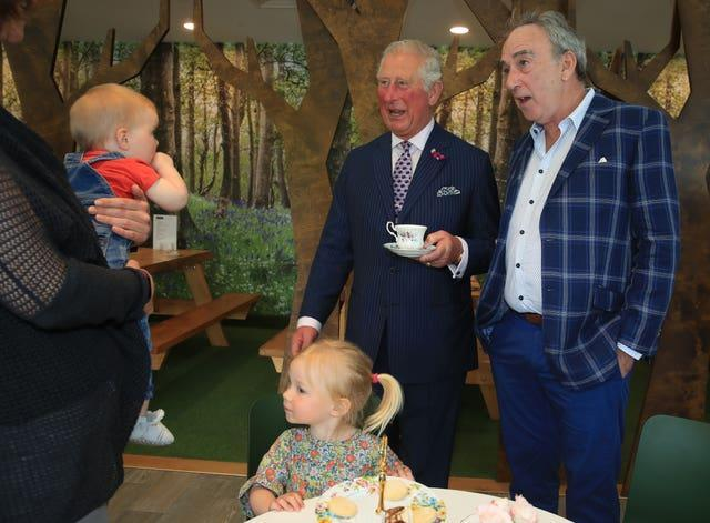 The Prince of Wales with Denis Lynn in 2019
