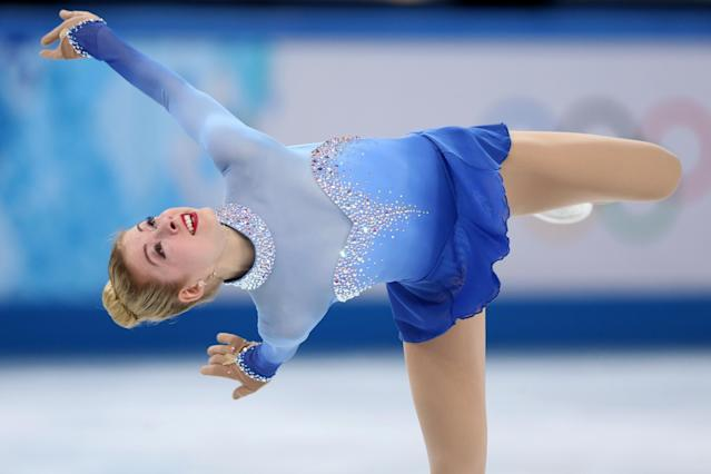 SOCHI, RUSSIA - FEBRUARY 20: Gracie Gold of the United States competes in the Figure Skating Ladies' Free Skating on day 13 of the Sochi 2014 Winter Olympics at Iceberg Skating Palace on February 20, 2014 in Sochi, Russia. (Photo by Matthew Stockman/Getty Images)