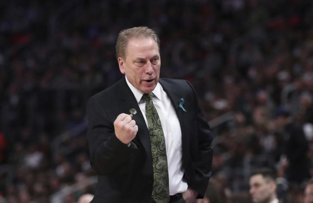 "The <a class=""link rapid-noclick-resp"" href=""/nba/teams/orl"" data-ylk=""slk:Orlando Magic"">Orlando Magic</a> are reportedly interested in Michigan State's Tom Izzo for their head coach opening. (AP)"
