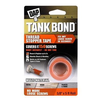 Tank Bond Thread Stopper Tape is designed to fix loose screws faster and easier than ever before.