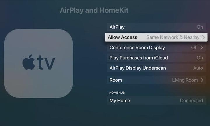 Pantalla de configuración de Apple TV para conectar el PC a la TV 2