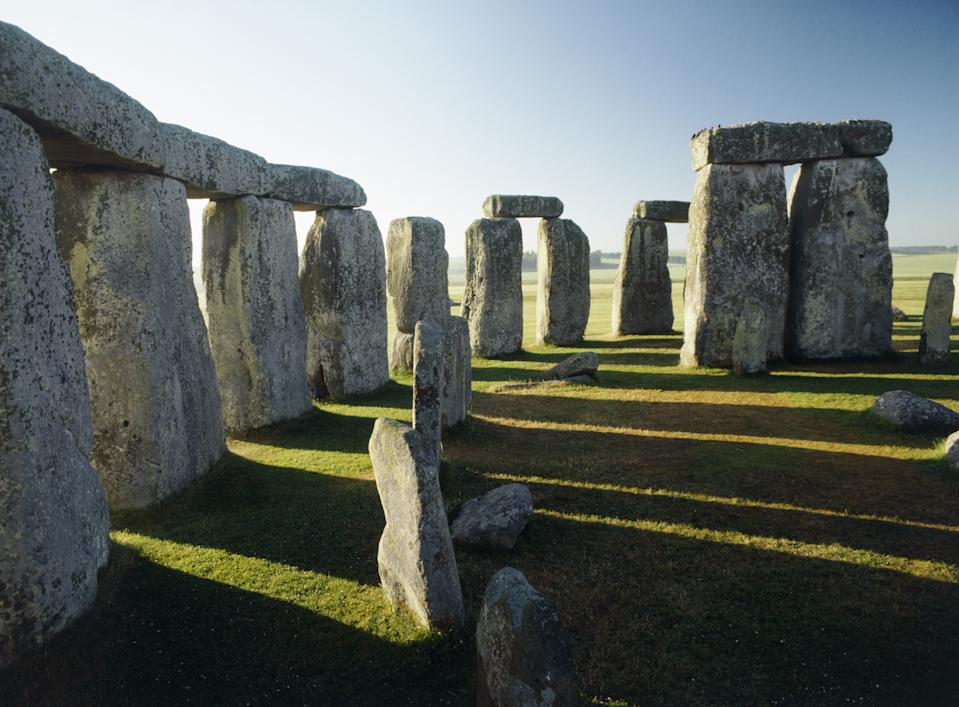 Stonehenge. View from north towards sarsen circle bluestones and one trilithon. (Photo by Arcaid/Universal Images Group via Getty Images)