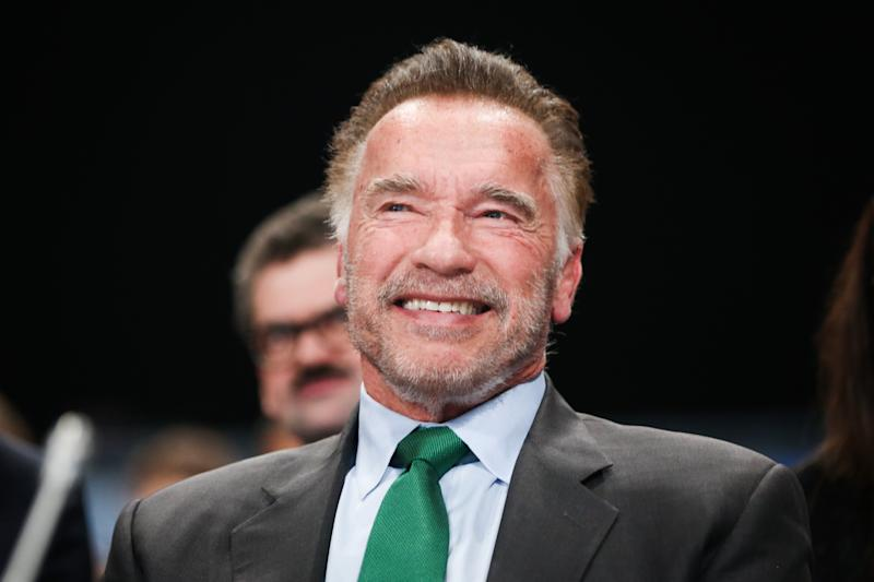 Watch Arnold Schwarzenegger Barely Notice a Drop-kick to His Back
