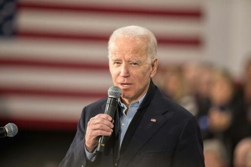 Democratic presidential candidate Joe Biden was trailing three challengers in the Iowa caucuses, according to partial results