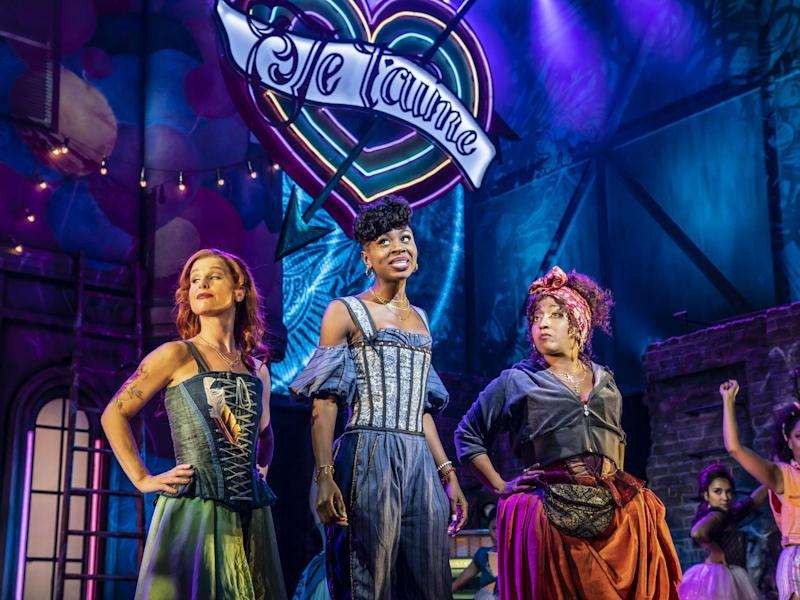 Wry and glittering: Cassidy Janson, Miriam-Teak Lee and Melanie La Barrie in & Juliet: Johan Persson