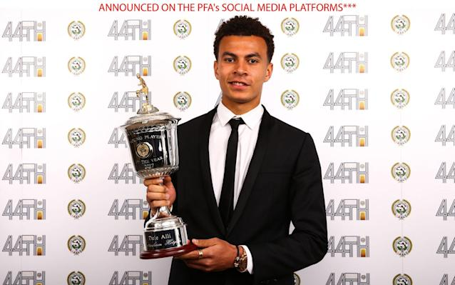 <span>Dele Alli won the Young Player of the Year award</span> <span>Credit: PA </span>