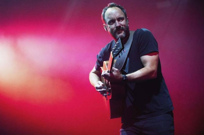 Dave Matthews of The Dave Matthews Band performs at Charlotte's PNC Music Pavilion on Saturday night.