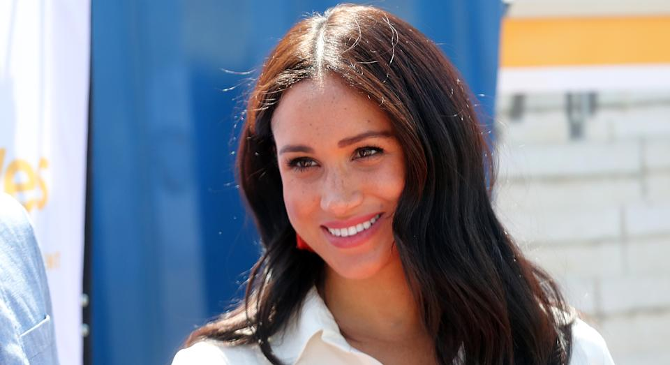The brand behind a necklace recently worn by Meghan Markle has revealed its inspiring meaning. (Getty Images)