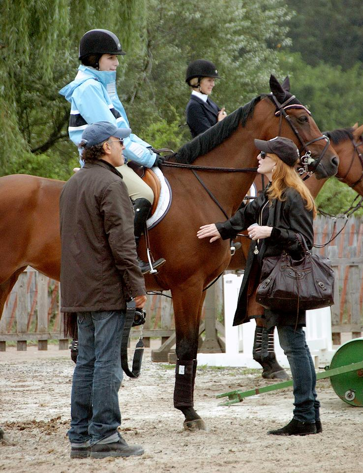 <p>The proud parents have been longtime supporters of their daughter Jessica's equestrian career. Here, they're pictured in 2006 at the 31st annual Hampton Classic Horse Show in Bridgehampton, New York. </p>