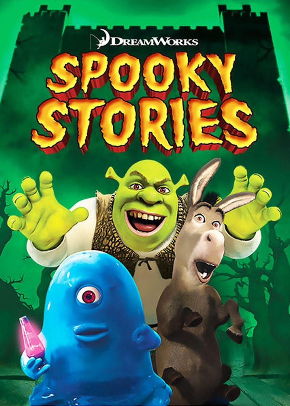 "<p>Shrek, Donkey, and your other favorite characters from the Kingdom of Far Away get together to tell spooky stories.</p><p><a class=""link rapid-noclick-resp"" href=""https://www.netflix.com/watch/70218316"" rel=""nofollow noopener"" target=""_blank"" data-ylk=""slk:WATCH NOW"">WATCH NOW</a></p>"