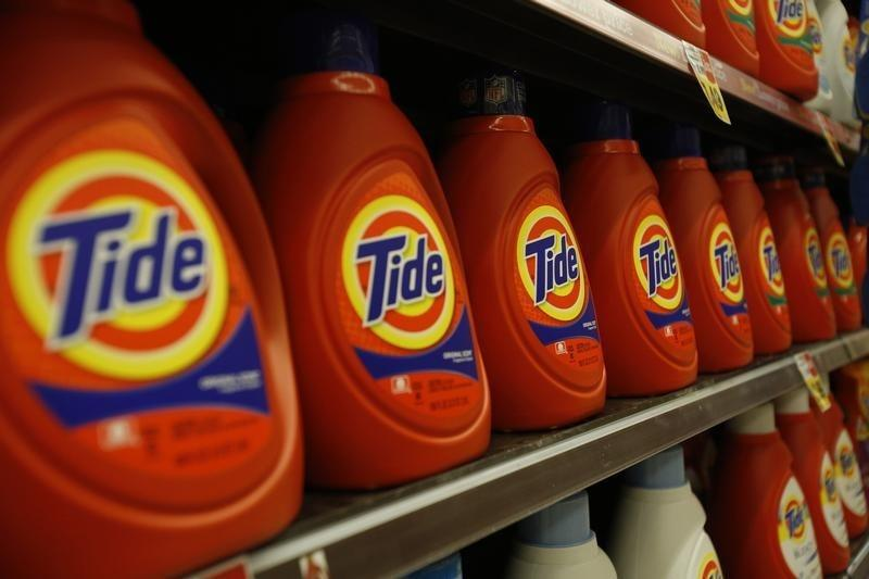 Tide laundry detergent, a product distributed by Procter & Gamble, is pictured on sale at a Ralphs grocery store in Pasadena