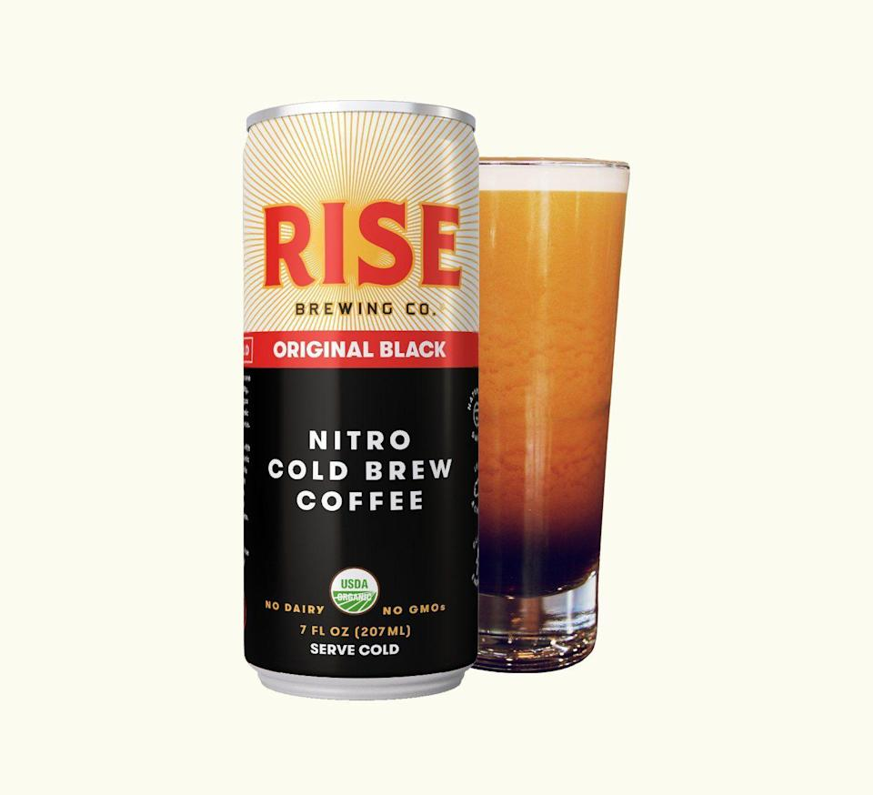 """<p><strong>Rise Brewing Company</strong></p><p>risebrewingco.com</p><p><strong>$34.99</strong></p><p><a href=""""https://risebrewingco.com/products/nitro-cold-brew-coffee-original-black?variant=7052621774895"""" rel=""""nofollow noopener"""" target=""""_blank"""" data-ylk=""""slk:Shop Now"""" class=""""link rapid-noclick-resp"""">Shop Now</a></p><p>If you're looking for an even quicker caffeine fix, this canned nitro cold brew coffee can be enjoyed on its own, or mixed into a coffee concoction of your choice. Rise Brewing Co. offers a few different flavors in their subscription box, offered bi-weekly, monthly, or bi-monthly, including gift subscriptions that range up to a year. This might be a great option for the office or gym where a coffee pot is simply no where to be found.</p>"""