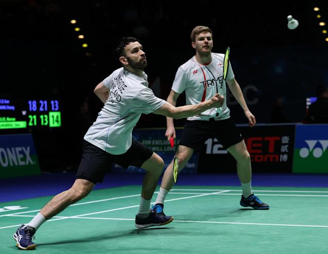 Chris Langridge and Marcus Ellis couldn't quite get over the line in the men's doubles quarter-finals