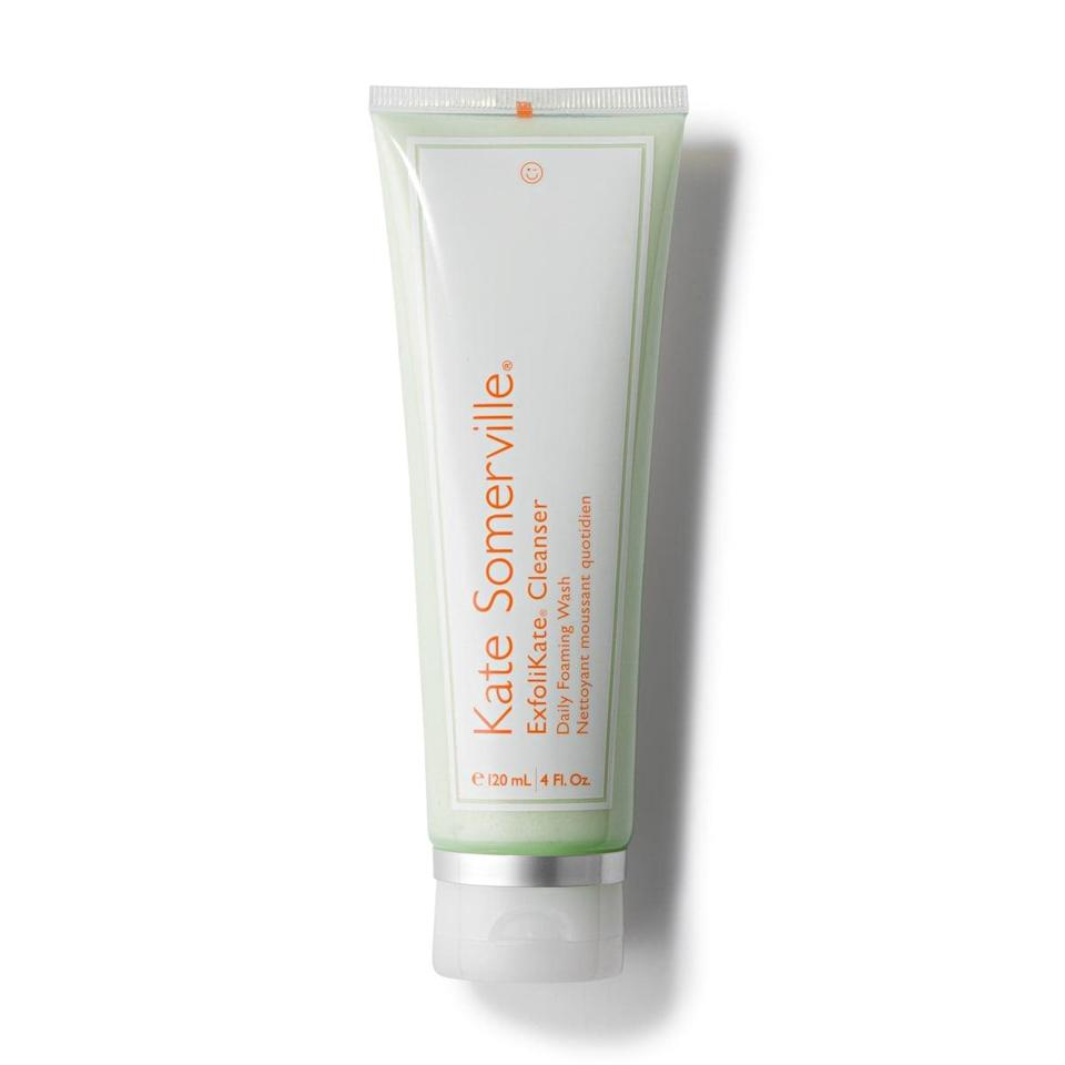 <p>A bestselling cleanser for a reason, the <span>Kate Somerville ExfoliKate Cleanser Daily Foaming Wash</span> ($40) uses a blend of alpha hydroxy acids (hi, glycolic and lactic acids!) to gently exfoliate your skin, preventing future breakouts.</p>