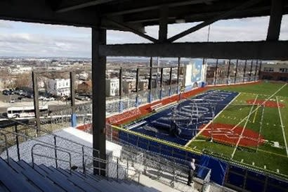 The Union City baseball field, four stories above Union City, N.J. — Newark Star-Ledger