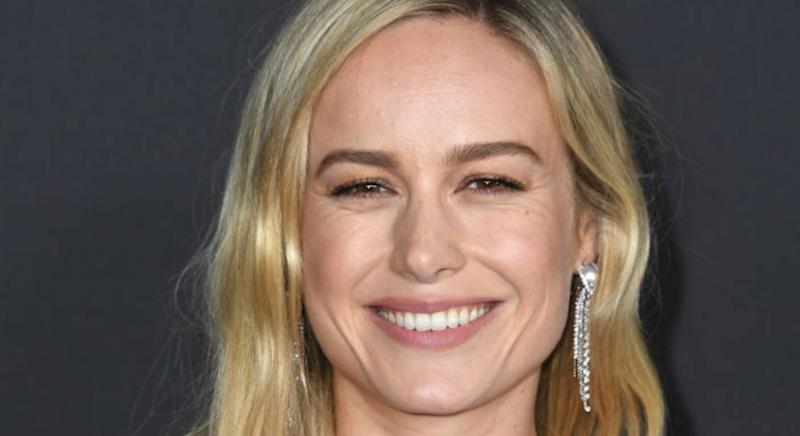 Brie Larson just wore a £16 Mango top - and it's still in stock. (Getty Images)