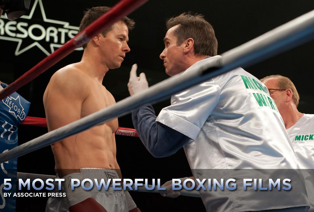 """Boxing movies always have plenty of champions: They inspire us to fight harder ourselves, overcome obstacles in our own lives, acquire killer biceps and abs.   <a href=""""http://movies.yahoo.com/movie/contributor/1800019716"""">Mark Wahlberg</a> has always been known for those parts of his body, and they're on full display in <a href=""""http://movies.yahoo.com/movie/1810155439/info"""">The Fighter</a>, a movie he's been training for and fighting to get made for four years. He stars as Micky Ward, a real-life boxer who was one of Wahlberg's favorites growing up in Massachusetts.   With """"The Fighter"""" opening this weekend, here are<a href=""""http://movies.yahoo.com/news/movies.ap.org/5-most-powerful-boxing-films-ap"""">five more boxing movies that pack an emotional punch:</a>"""