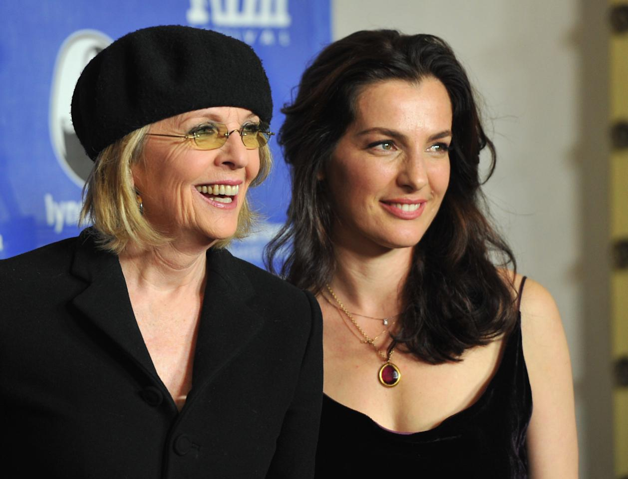"SANTA BARBARA, CA - JANUARY 26:  Actors Diane Keaton and Ayelet Zurer arrive to the Santa Barbara International Film Festival's opening night premiere of Sony Pictures Classics' ""Darling Companion""  at Arlington Theatre on January 26, 2012 in Santa Barbara, California.  (Photo by Alberto E. Rodriguez/Getty Images)"